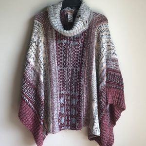 Forever 21 cowl neck sweater poncho